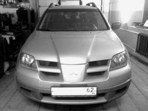 Удаление катализатора Mitsubishi Outlander 2.4 2003